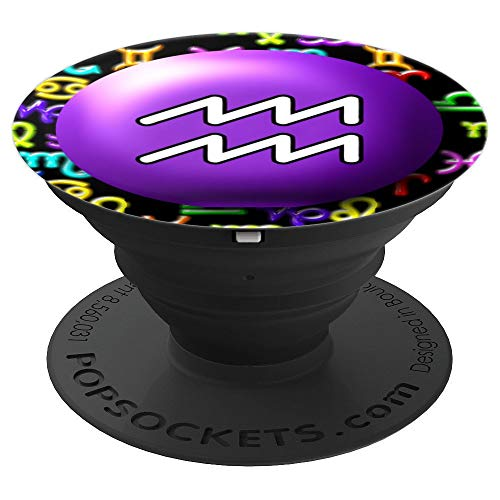 Aquarius Dots - Candy Dot Aquarius - PopSockets Grip and Stand for Phones and Tablets