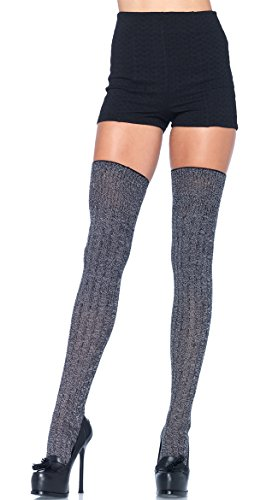 Leg Avenue Womens Rib Knit Thigh Highs (Athletic Ribbed Thigh Highs)