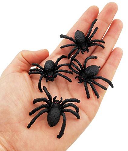 Muzboo Plastic Spider Halloween Toy,Scary Fake Spiders Joke Toy Realistic Prank 20Pcs -