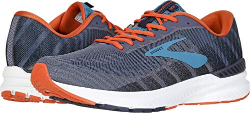 Brooks Men's Ravenna 10 Ebony/Navy/Mandarin 8.5 D US