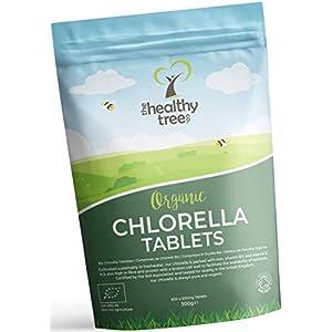 Compresse di Clorella Bio di TheHealthyTree Company - Alto Contenuto di Vitamine B12 ed E, Ferro, Proteine ed… 6 spesavip