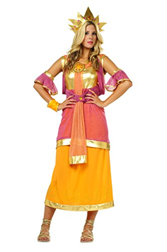 [RG Costumes Women's Hera, Gold/Yellow/Pink/Orange, One Size] (Hera Costumes)