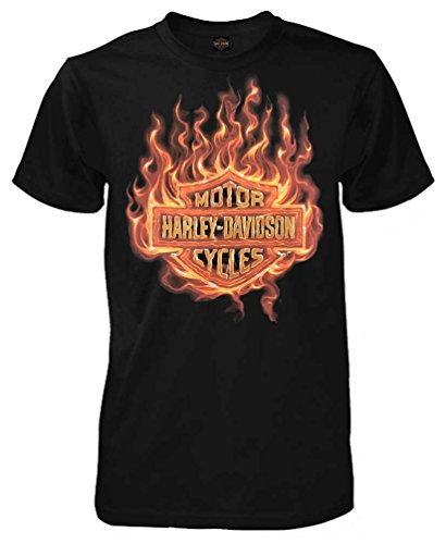 Harley Davidson Blaze Shield Sleeve T Shirt