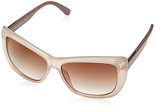 TOM FORD Women's TF 434 Lindsay 57G Clear Beige Brown Butterfly Sunglasses - Optical Lindsay