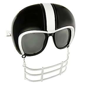 Sunstaches Football Helmet Game Shades, Black