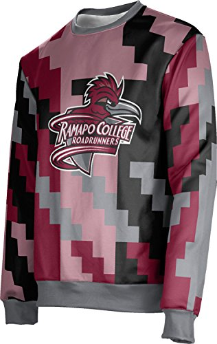 ProSphere Ramapo College of New Jersey Ugly Holiday Unisex Sweater - Kringle FE5A2 Red and Gray
