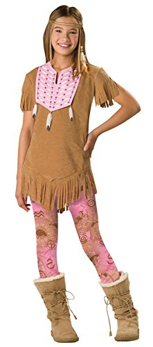 [InCharacter Costumes Girl's Top Character Printed Faux Beaded Feather 10-12] (Pilgrim Costumes Ideas)