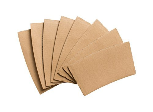 Cup Corrugated (Eskay, Corrugated Paper Hot Cup Sleeve, Cool Touch Corrugated Sleeve, Kraft (Brown) (50))