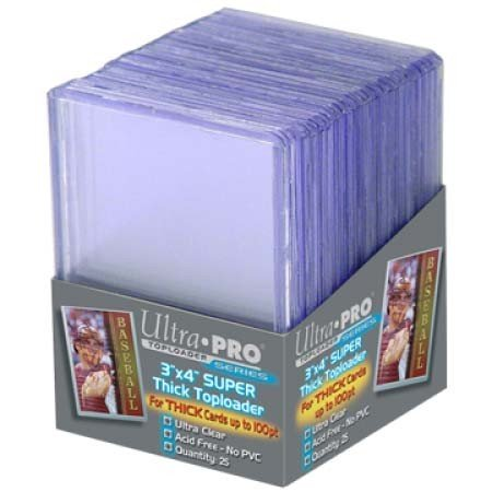 """25 Ultra Pro Super Thick Toploader - Ultra Clear - Top Loader - 3"""" x 4"""""""