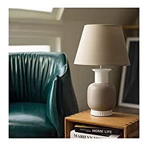 Amazon.com: PPWAN Table Lamp American Nordic Lamp Bedroom ...