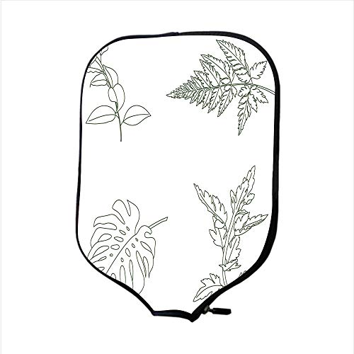 SoSung Neoprene Pickleball Paddle Racket Cover Case/Digital Rubber Floral Stamps/Fit for Most Rackets - Protect Your Paddle