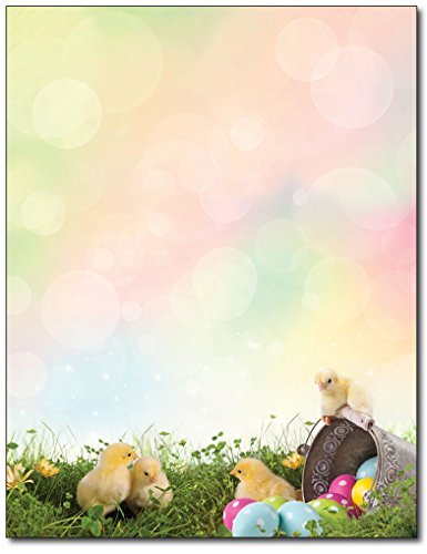 Easter Chicks Stationery Paper - 80 Sheets - Great for Easter Flyers, Letters, or Invitations]()