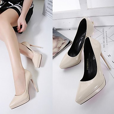 Black 5 ggx 3 4in eu34 Heels Slingback PU 2 3 5 Casual 4 cn33 Women's us4 Spring Slingback uk2 ruby 3in Ruby White LvYuan zwqUAdA
