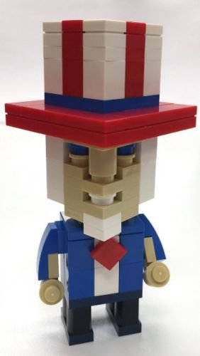 Amazon Constructibles Cubeville Uncle Sam Lego Parts