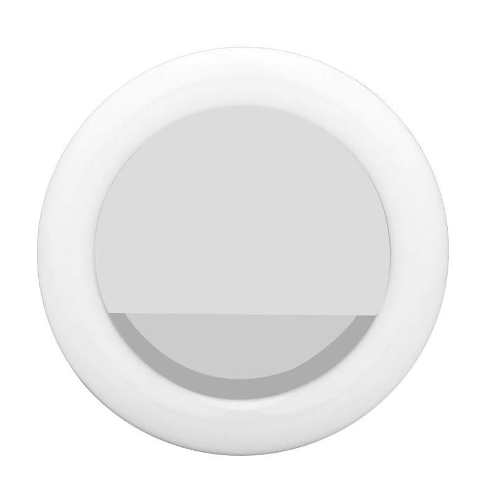 quanjucheer Luce di Ricarica ad Anello LED Ricaricabile USB Universale con Clip per Selfie Pink