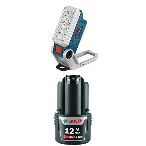 Bosch Bare Tool FL12 12-volt Max LED Cordless Work Light with Lithium-Ion 2.5Ah Battery