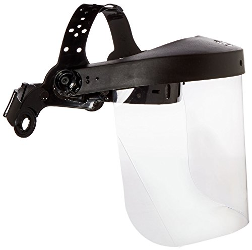 Clear Face Shield - Neiko 53819A Safety Headgear Face Shield with Visor | Clear Polycarbonate