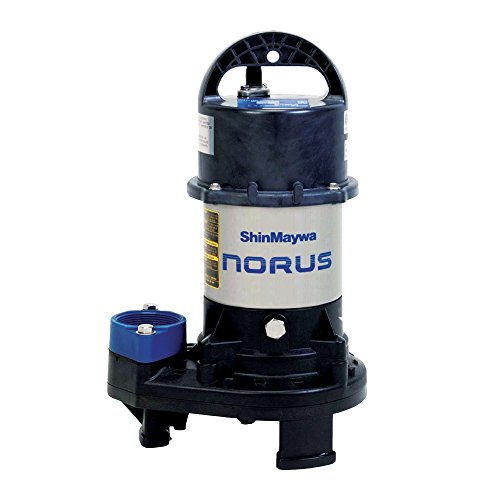 ShinMaywa 50CR2.4S Norus 5700 GPH 1/2HP Submersible Garden Pond Waterfall Pump