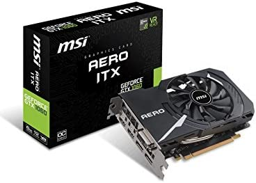 MSI GeForce GTX 1060 Aero ITX 6G OC - Tarjeta gráfica (tamaño ITX ...