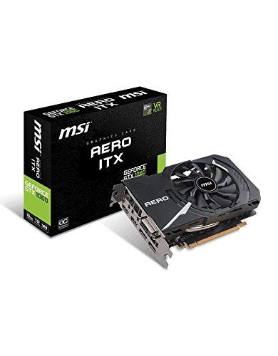 MSI GeForce GTX 1060 Aero ITX 6G OC - Tarjeta gráfica (tamaño ITX, 6 GB de Memoria GDDR5, VR Ready)