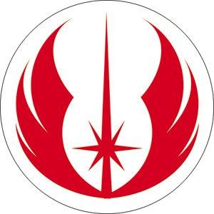 star wars clone wars jedi symbol button clothing. Black Bedroom Furniture Sets. Home Design Ideas