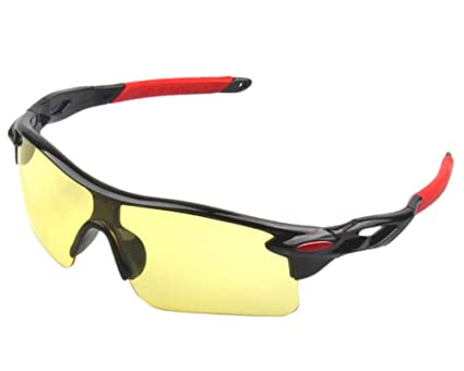 0af480963ac Runspeed Sports Sunglasses Cycling Glasses Outdoor Athlete s UV Protection Night  Vision Goggles for Men Women Hiking