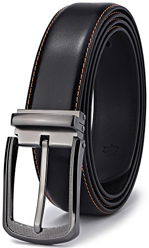 Mens Belt,Bulliant Leather Belt for Men with Pin Buckle 1 3/8,Trim to Fit