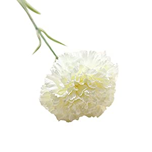 Snowfoller Artificial Fake Flowers Carnations Floral Wedding Bouquet Party Home Decoration (White) 82