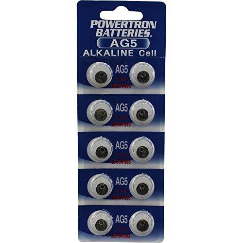 (10) AG5 393 LR754 SR754 Alkaline Battery Button Cell