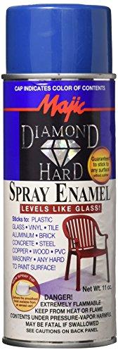 Majic Paints 8-21505-8 Diamond Hard Acrylic Enamel Spray Paint, Aerosol, 11-Ounce, Royal Blue by Majic Paints