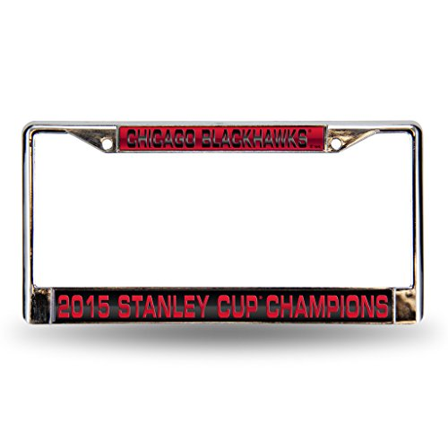 Chicago Blackhawks Laser Cut License Plate Frame - 2015 Champs