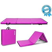 Matladin Folding Gymnastics Gym Exercise Aerobics Mat, Tumbling Mats for Stretching Yoga Cheerleading Martial Arts
