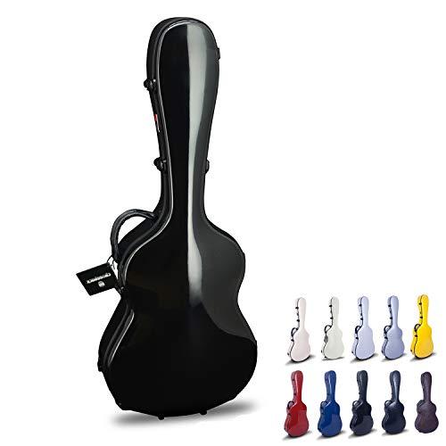 Crossrock CRF1000CBK Fiberglass Classical Guitar Case Hardshell- Backpack Style for 4/4 Full Size in Black