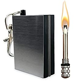 OPG3 Permanent Match Fire Starter, Waterproof Fireplace Accessories and Stove Matches, Flint Steel Keychain Emergency…