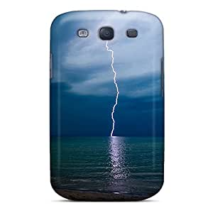 Quality Jeffrehing Case Cover With Lightning Strike Iphone Wallpaper Nice Appearance Compatible With Galaxy S3