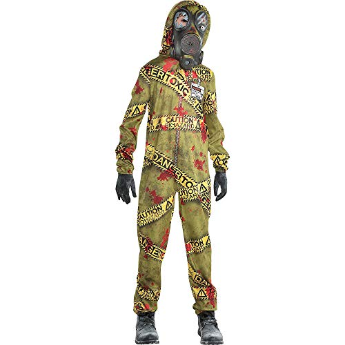 Quarantine Zombie Halloween Costume for Boys, Large, with Included Accessories, by Amscan -