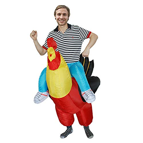 MoreToys Inflatable Cock Rider Halloween Blow Up Costume