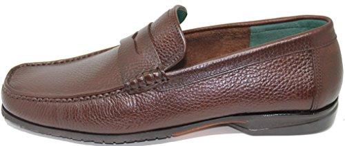 Piel con Zapato Grabado Marrón Mallorca George´s Color de Mocasín Becerro Antifaz Inca 3145 España Mano Primera a Shoes EN Calidad Fabricado 8I8qpEY