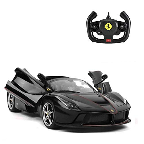 RASTAR RC Cars Ferrari Aperta RC Car Radio Remote Control Cars 1:14 Scale Vehicle 4.8V Dedicated Charging Pack USB Charger RC Car for Adults& Kids Black ()
