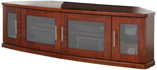 (Plateau Newport 62 W Corner Wood TV Stand, 62-Inch, Walnut Finish)