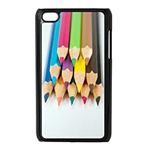 LZHCASE Diy Phone Case Colored Pencil For Ipod Touch 4 [Pattern-1]