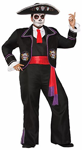 Dead Gangster Halloween Costumes (Forum Novelties Men's Plus Size Day of The Dead Macabre Mariachi,)