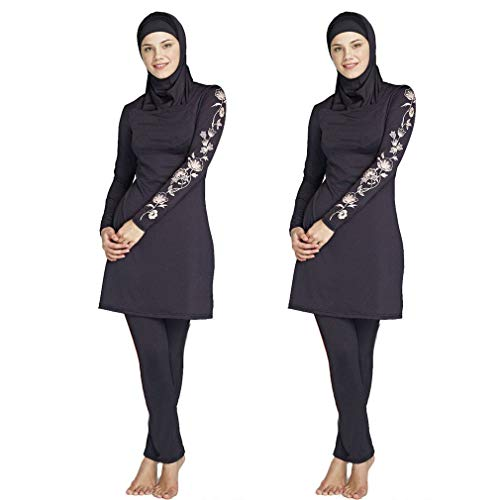 6xl Noir Grand Président Maillot Montré Islamique Montré Oudan Musulman De Plage Bain Féminin Conservateur Nombre Taille Comme coloré Unique 7qRPwY