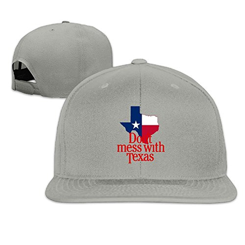 Unisex Don't Mess With Texas Adjustable Snapback Baseball Caps Ash One - Tom Houston Ford