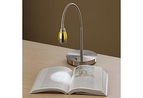 daylight24 202071-15 Adjustable Beam LED Desk Lamp, 8.47'' x 5.9'' x 19.5'', Brushed Nickel