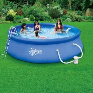 Quick Set Ring Pool 12 39 X 36 With 580 Gph Filter Pump Above Ground Swimming