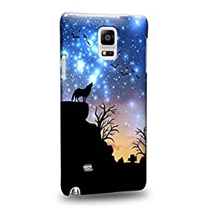 Case88 Premium Designs Art Dreamscapes Silhouettes Journey Protective Snap-on Hard Back Case Cover for Samsung Galaxy Note 4