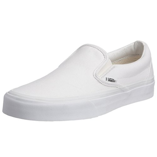 Vans Unisex Slip-On True White VN000EYEW00 Mens 9, Womens 10.5 (Check Vans)