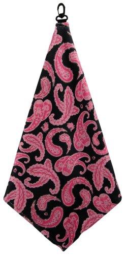 BeeJo's Black Paisley Microfiber Golf Towel women's golf gift ideas