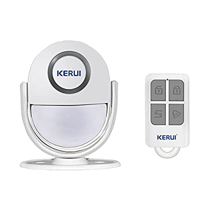 Wireless Home Security Alarm, KERUI All-in One PIR Motion Sensor Alarm Visitor Guest Entry Doorbell Chime with Remote LED Indicators Easy to Install Great for Businesses Shop Store Home,Driveway Alert